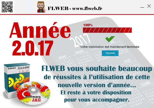 Année 2.0.17 installation terminée... FLWEB vous souhaite beaucoup de réussites à l'utilisation de cette nouvelle version d'année... Et reste à votre disposition pour vous accompagner.